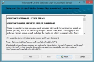 Microsoft Online Sign-in Assistant Setup
