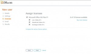 Create a new user Office 365 screen 5