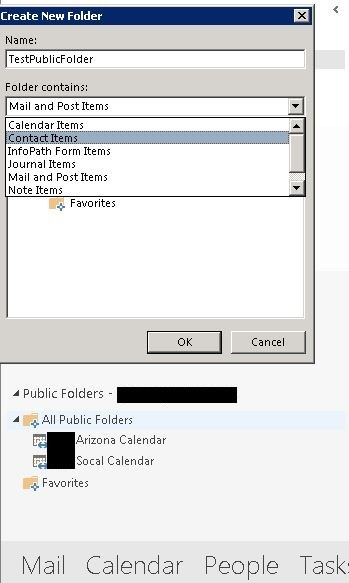Office 2013 Public Folders