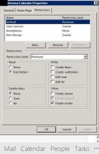 Outlook Public Folder Permissions